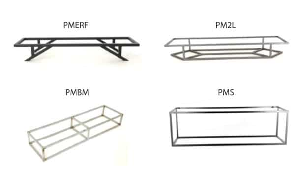 Modèles de piétements pour buffets, enfilades et meubles design