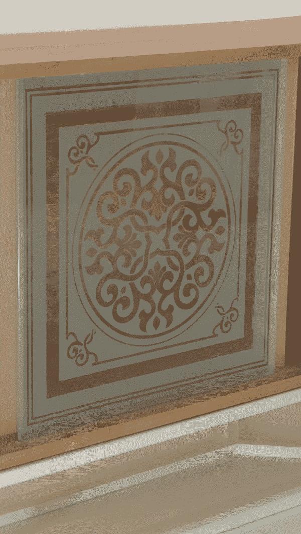 """Porte en verre sablé avec le motif """"Orient"""""""