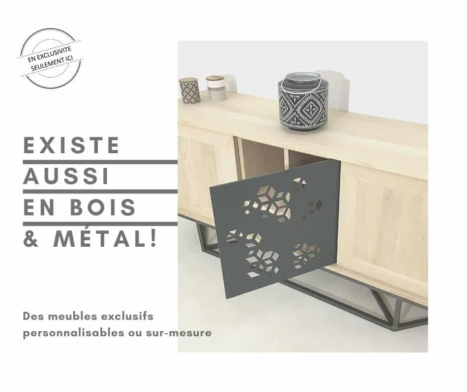Buffet bois métal, meuble sur-mesure
