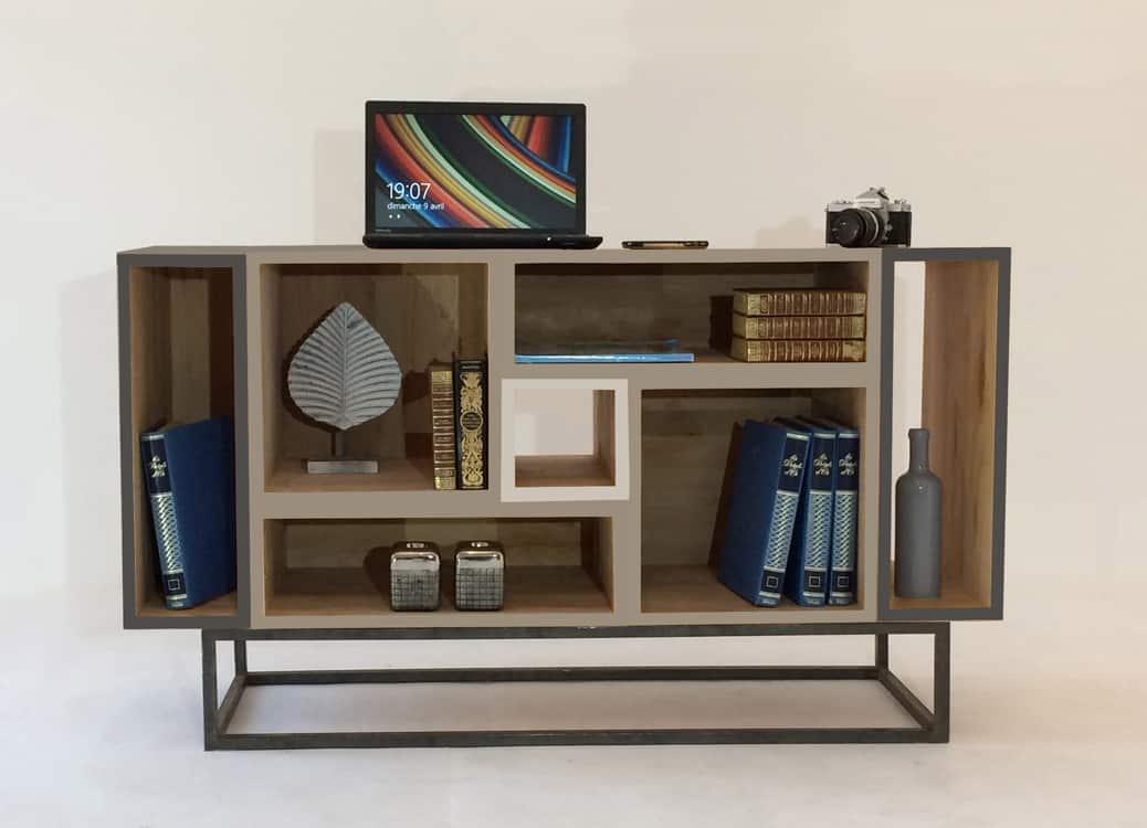 Fabrication d'un meuble personnalisable avec 7 modules