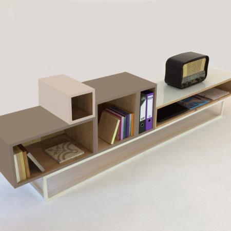 """meuble TV déstructuré bois massif """"five stars"""""""