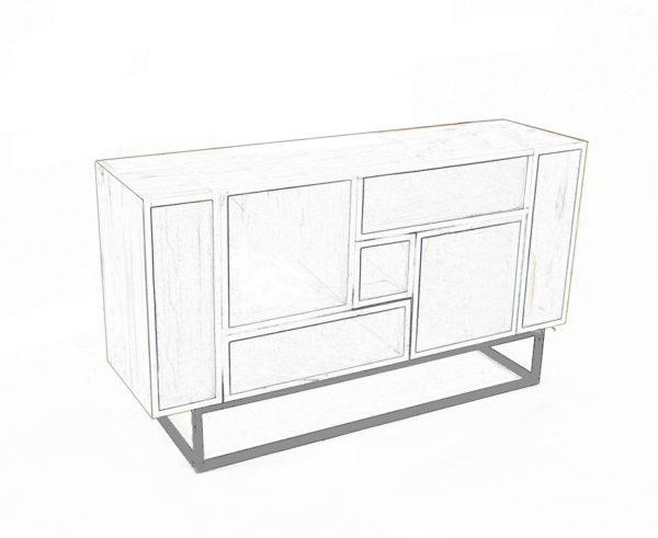 meuble modulable en bois massif réalisé sur-mesure