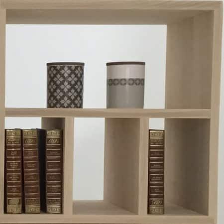 Module en bois massif NH4R pour bibliothèque modulable sur-mesure
