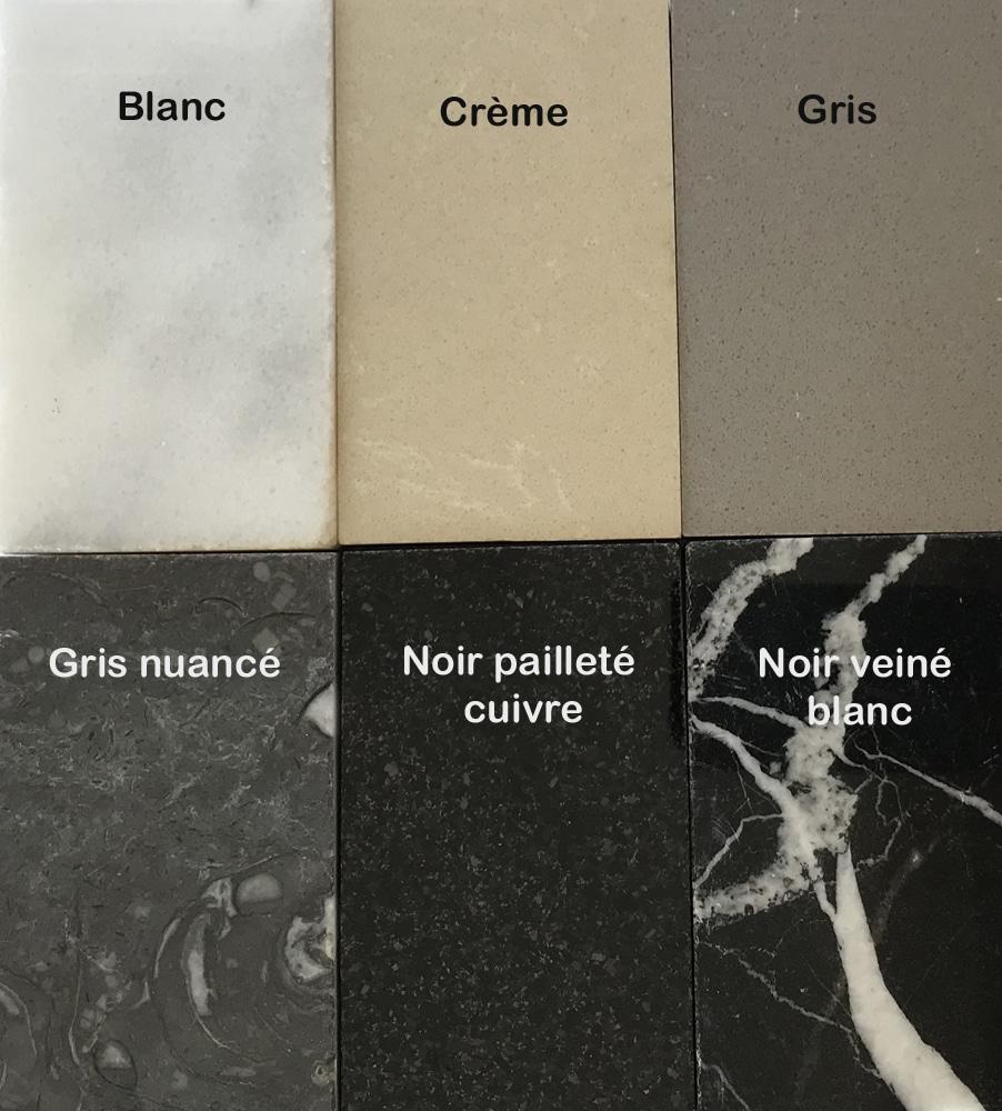 Choix de marbres pour les plateaux de nos meubles de rangement design