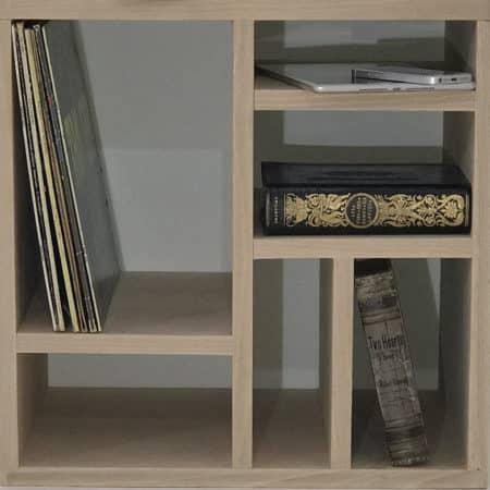Module NH6R en bois massif destiné à former une bibliothèque modulaire personnalisable