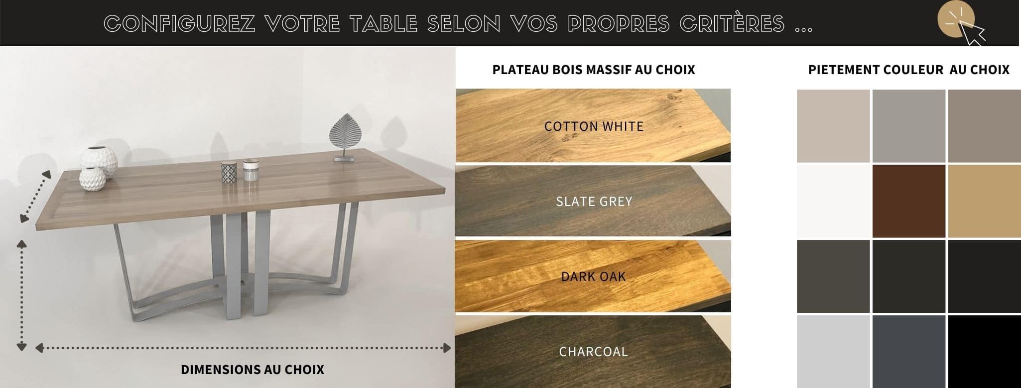 Table design fabrication artisanale sur-mesure
