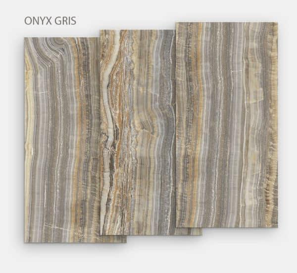 """Céramique """"Onyx Gris"""" pour table repas de salle à manger ou d'extérieur"""