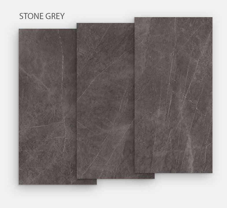 plateau en céramique imitation marbre gris taupe.