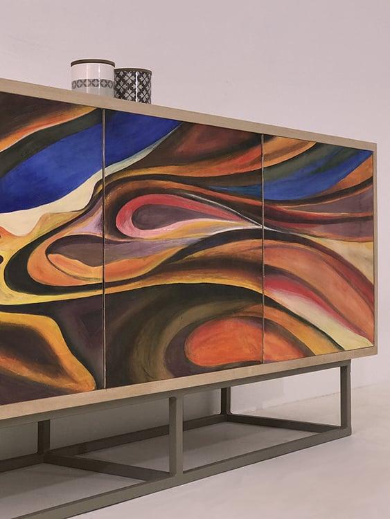 Mobilier peint main : motif