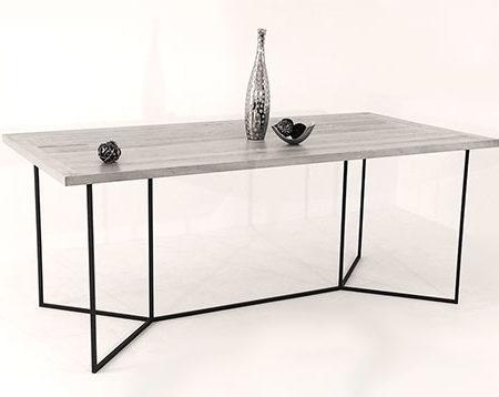 Table repas bois et métal design au style minimaliste