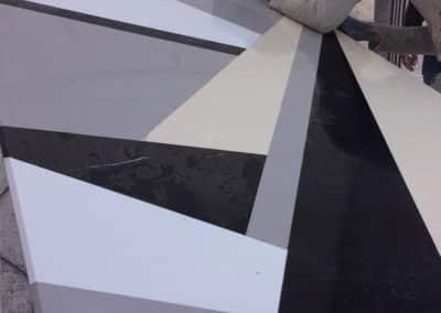 Table à manger plateau en marbre