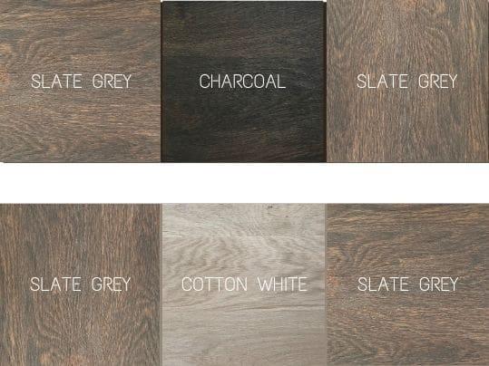 Portes en bois massif avec couleurs alternées. Un design exclusif.