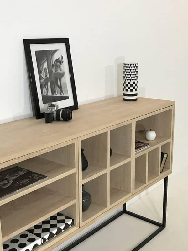 meuble de rangement en bois massif, modulable ou sur-mesure
