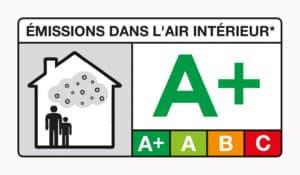 Vernis de protection noté A+ sur le niveau d'émission de substances volatiles dans l'air intérieur