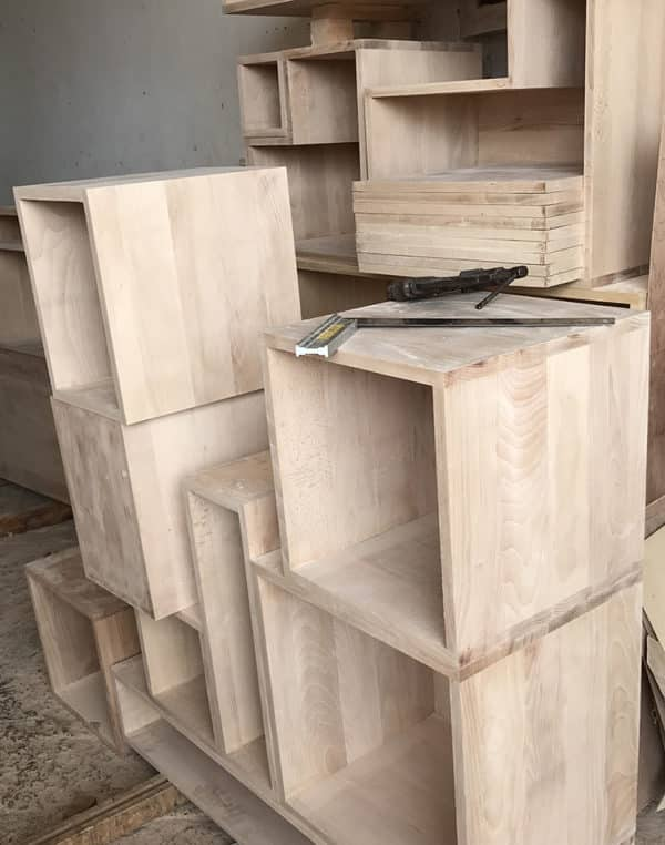 Modules bois massif, fabrication sur mesure du meuble design