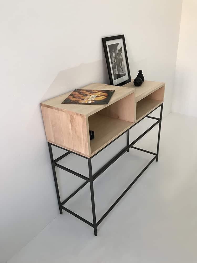 Console meuble salon ou d'entrée en bois massif