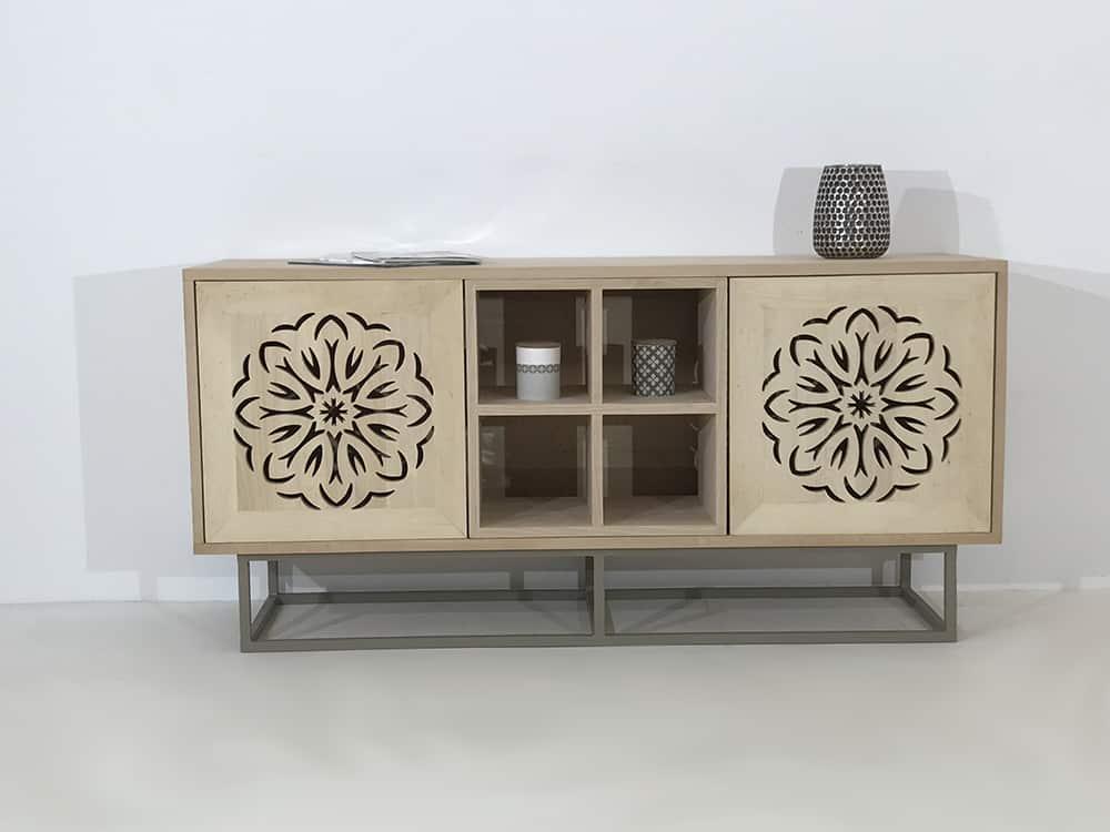 meuble bois massif modulable avec portes ajourées