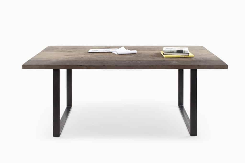 table vieux bois massif épais fond de wagon ou ancien plancher de grange