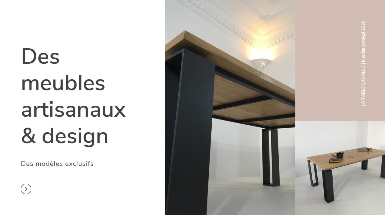 Un meuble en bois et métal pour votre salon ou salle à manger
