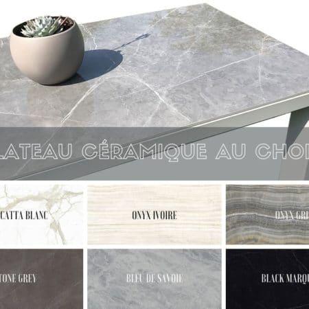 Plateau en céramique pour table à manger extensible sur-mesure
