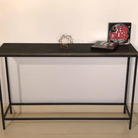 Console meuble bois metal de fabrication artisanale