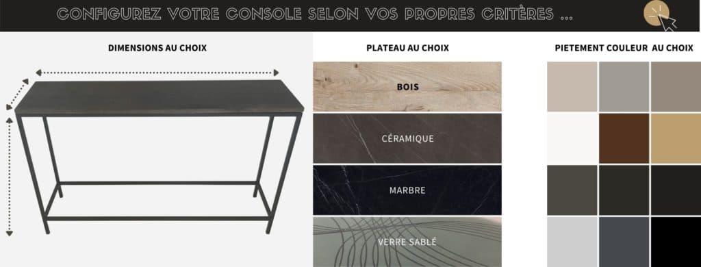 Console design sur-mesure, fabrication artisanale