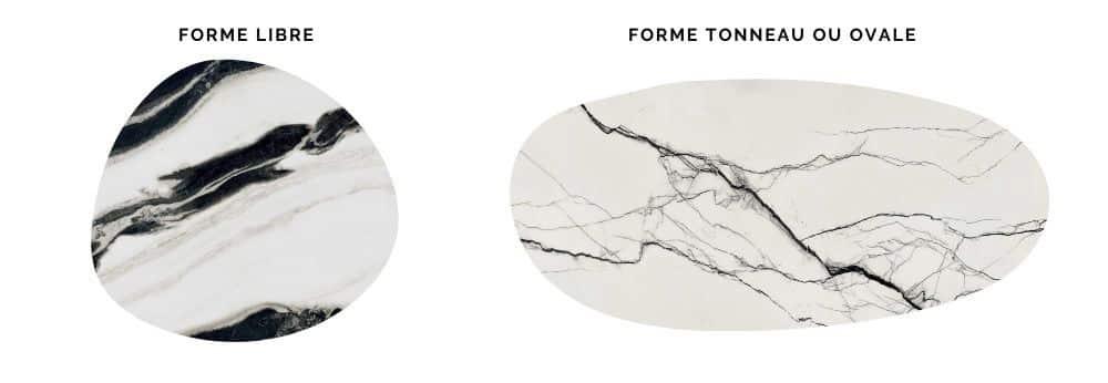 Céramique avec design noir et blanc.