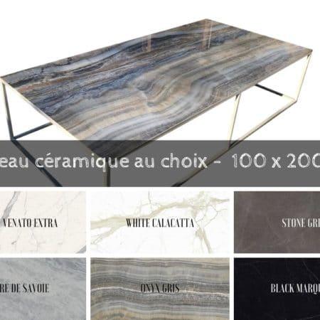 Grande table basse de luxe 100 cm x 200 cm