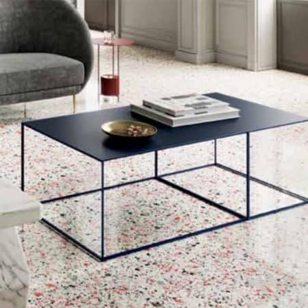 table basse design minimaliste acier noir