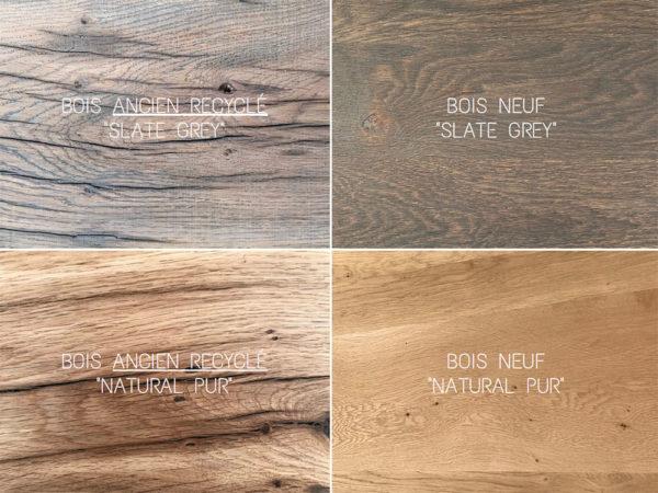 Plateau en bois massif ancien recyclé ou neuf, dimensions sur-mesure