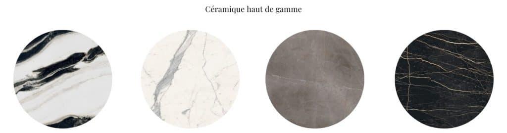 Plateau ceramique pour table repas à manger ou table basse