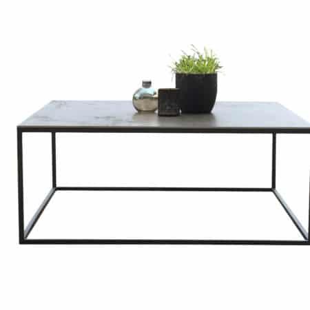 table de salon avec plateau céramique carré 120 x 120 cm