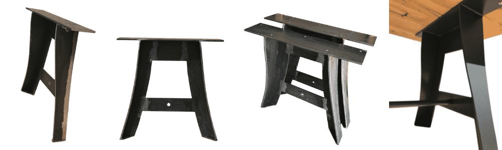 Pied de table metal original, en forme de A