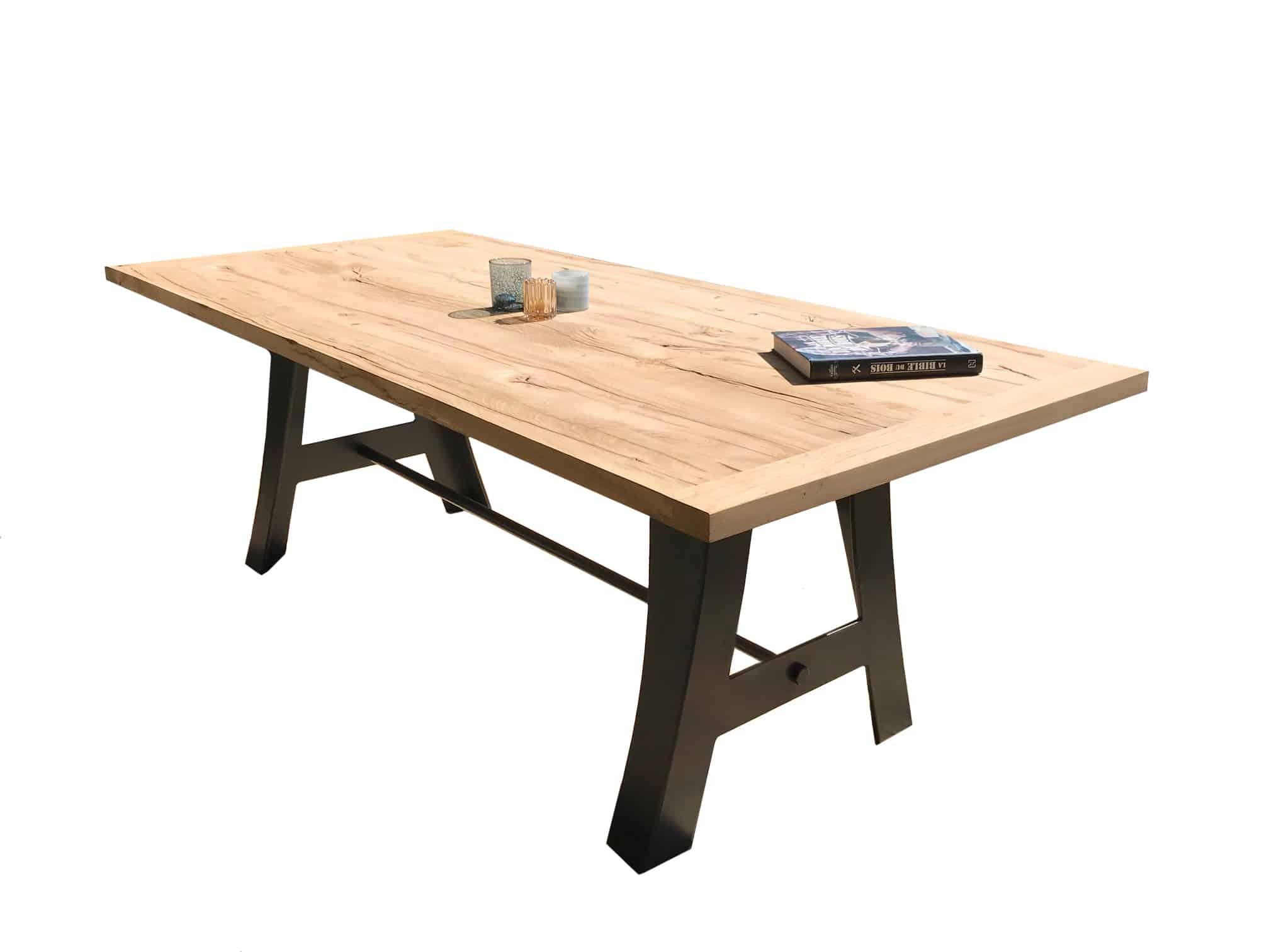 Table sur mesure plateau bois