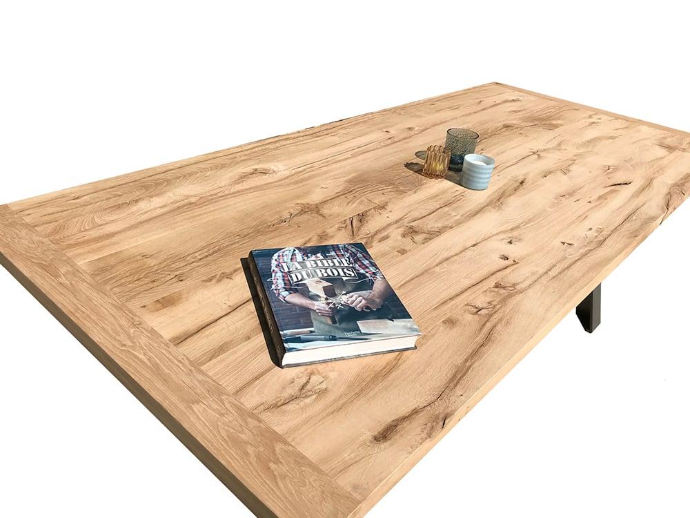 Plateau chene ancien recyclé pour table sur mesure bois