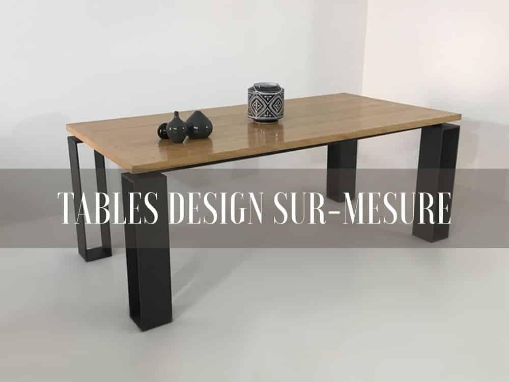 table bois métal, artisanale et sur-mesure